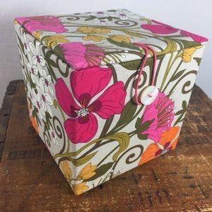 Vera Bradley tea garden floral ball ornament & box